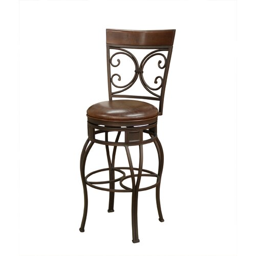 "American Heritage Treviso 34"" Swivel Bar Stool with Cushion"