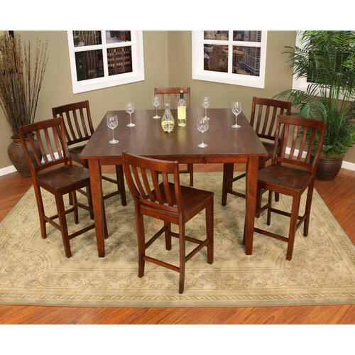 American Heritage Este 7 Piece Counter Height Pub Set