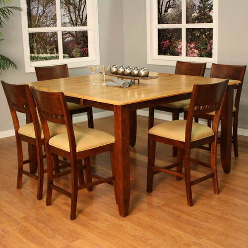 American Heritage Andria 7 Piece Counter Height Pub Set