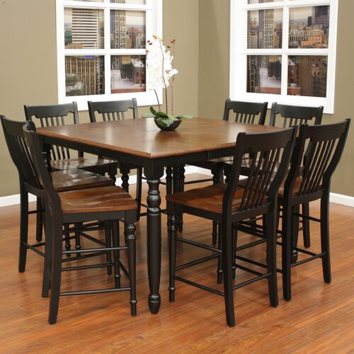 American Heritage Berkshire 9 Piece Counter Height Pub Set