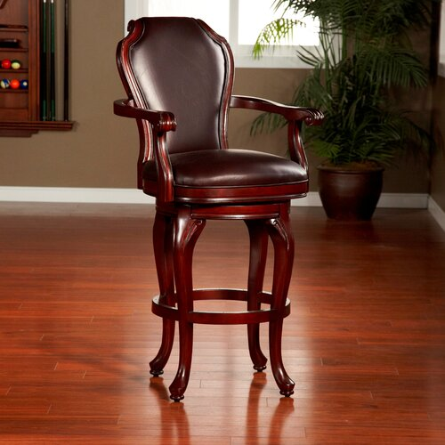 American Heritage Juliana Swivel Bar Stool with Cushion