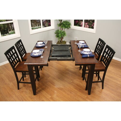 American Heritage Rosetta 5 Piece Counter Height Dining Set