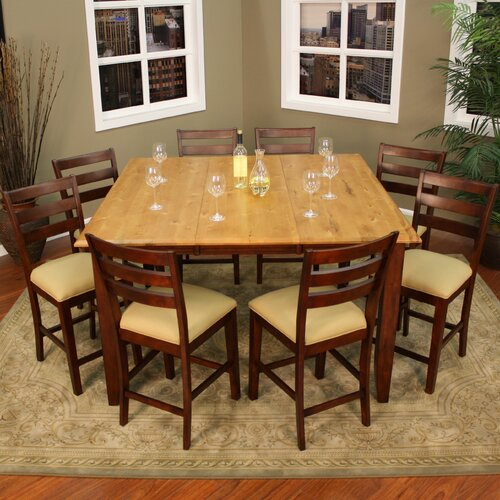 American Heritage Andria 9 Piece Counter Height Dining Set
