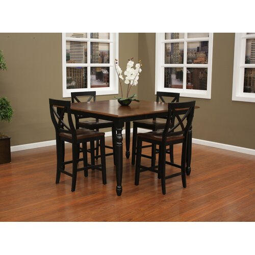 American Heritage Berkshire 5 Piece Counter Height Pub Set