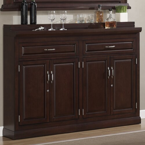 American Heritage Ricardo Bar Cabinet With Wine Storage Reviews Wayfair