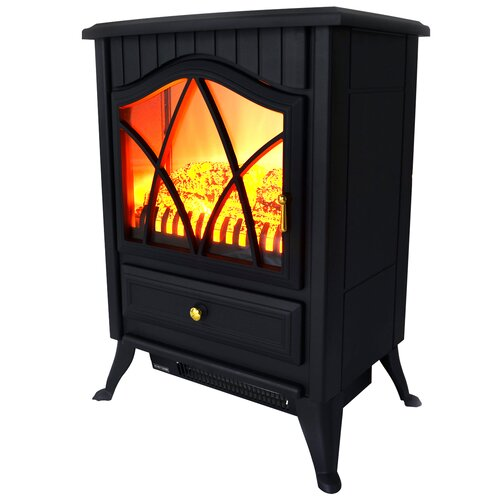 Vintage Freestanding Stove Heater Electric Fireplace Wayfair