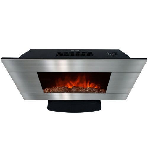 Akdy 36 Freestanding Stainless Steel Electric Fireplace With Led Backlight Reviews Wayfair