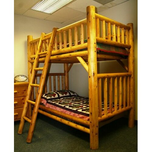 Moon Valley Rustic Nicholas Twin over Twin Bunk Bed with Ladder