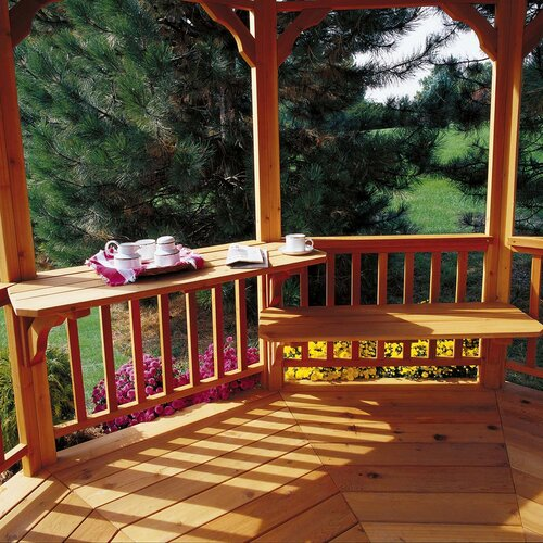 "Handy Home San Marino & Monterey 1' H x 3' 11"" W x 1' 3"" D Gazebo Bench or Table"