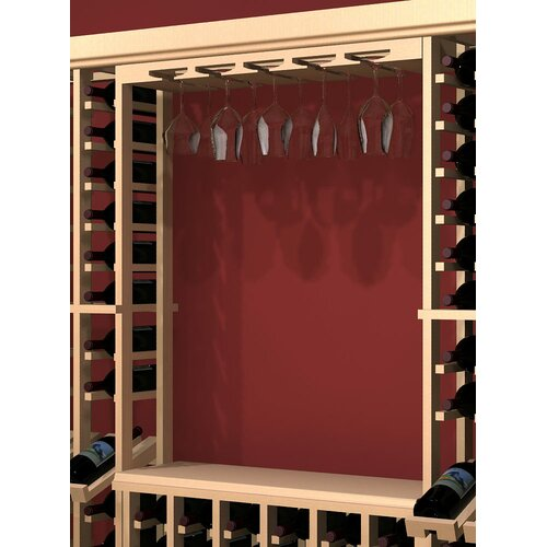 Rustic Pine Wall Mounted Wine Glass Rack