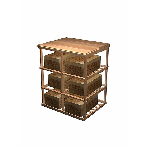 Wine Cellar Innovations Designer Series 6 Case Double Deep Storage Table