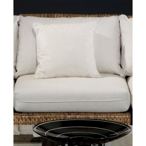 Hospitality Rattan Seagrass Middle Armless Section Deep Seating Chair with Cushion
