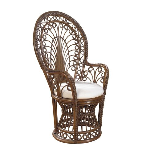 Hospitality Rattan Rattan Peacock  Arm Chair with Cushion