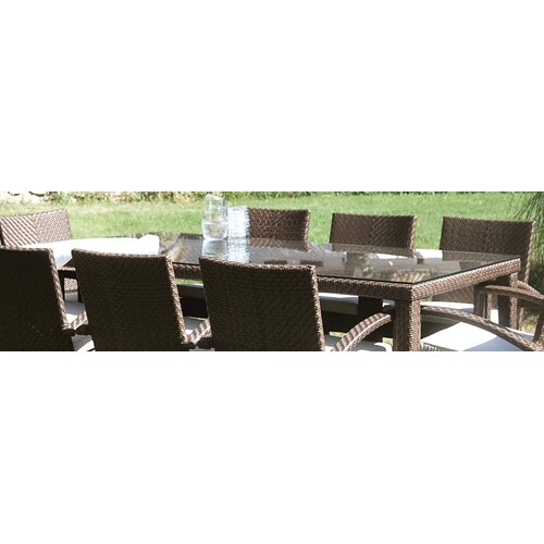 Soho Patio Rectangular Dining Table Glass Top Only
