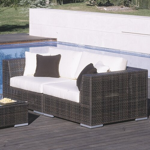 Hospitality Rattan Soho 2 Piece Deep Seating Group with Cushions