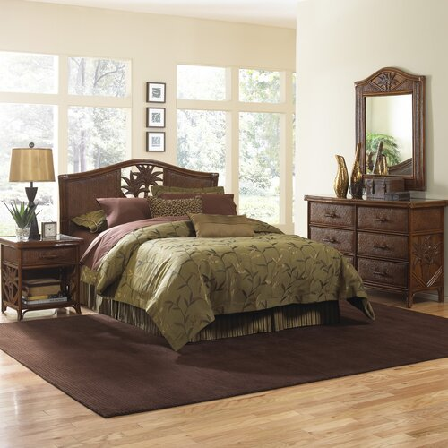 Cancun Palm Panel 4 Piece Bedroom Collection