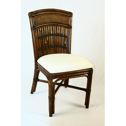 Hospitality Rattan Polynesian Dining Side Chair with Cushion
