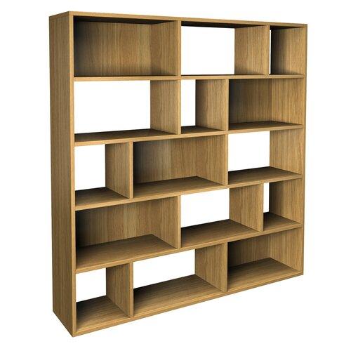 Alpenhome betria contemporary asymmetric bookcase - Simple wood furniture design ...