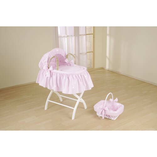Broderie Anglaise Palm Moses Basket With Long Skirt