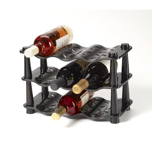 Kamenstein 9 Bottle Wave Wine Rack