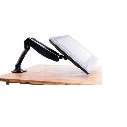 Single LCD Monitor Height Adjustable Desk Mount Stand | Wayfair