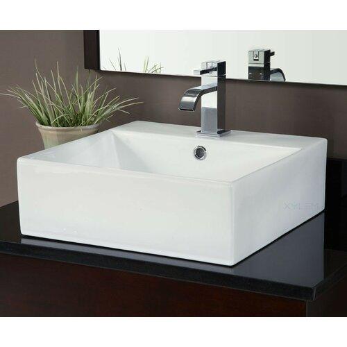 Square Vessel Bathroom Sink : Square Vitreous China Vessel Bathroom Sink Wayfair