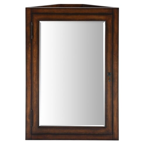 ryvyr malago 24 corner mirrored medicine cabinet distressed maple