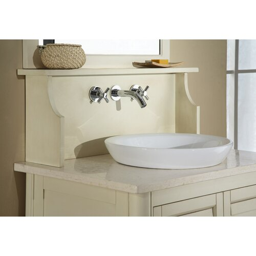Recessed Bathroom Sink : Ryvyr Semi-Recessed Round Vitreous China Vessel Bathroom Sink ...