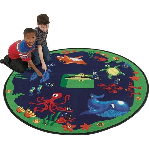Flagship Carpets Educational Sea Hunt Area Rug