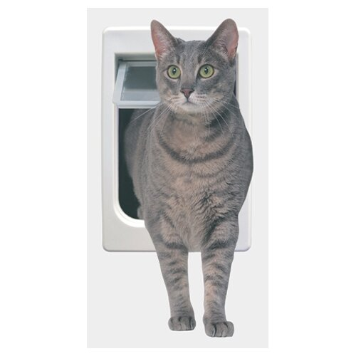 Perfect Pet by Ideal Tubby Kat with 4 Way Lock Pet Door
