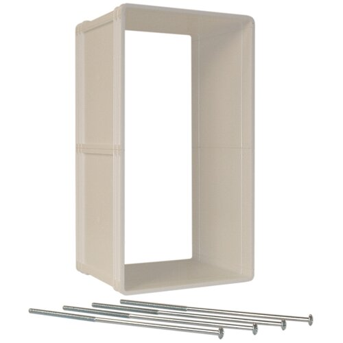 Ideal ruff weather dog pet door frame wall kit only for Ideal pet doors