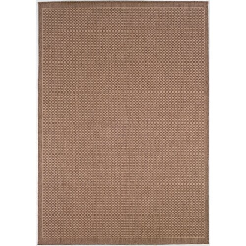 Recife Saddle Stitch Indoor/Outdoor Rug in Cocoa-Natural