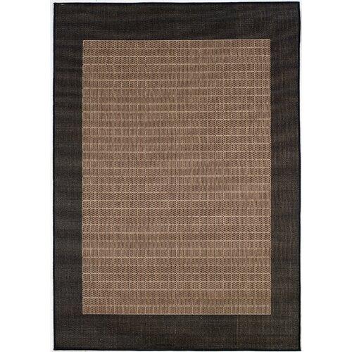 Couristan Recife Checkered Field Black Cocoa Indoor/Outdoor Rug