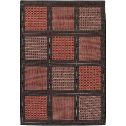 Couristan Recife Summit Terra Cotta/Black Indoor/Outdoor Rug