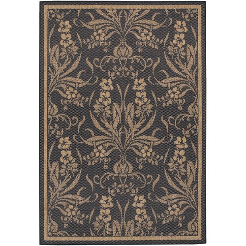 Couristan Recife Garden Cottage Black Indoor/Outdoor Rug