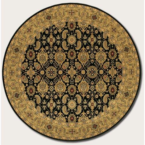Couristan Royal Kashimar All Over Vase Black Rug