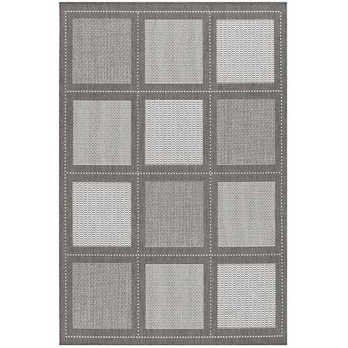 Couristan Recife Summit Grey/White Indoor/Outdoor Rug