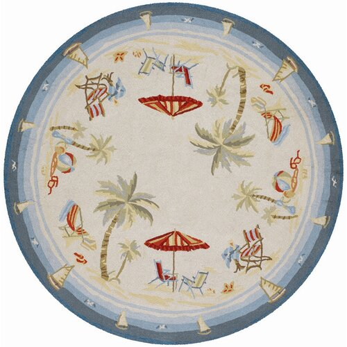 Couristan Outdoor Escapes Pacific Heights Ocean Novelty Rug