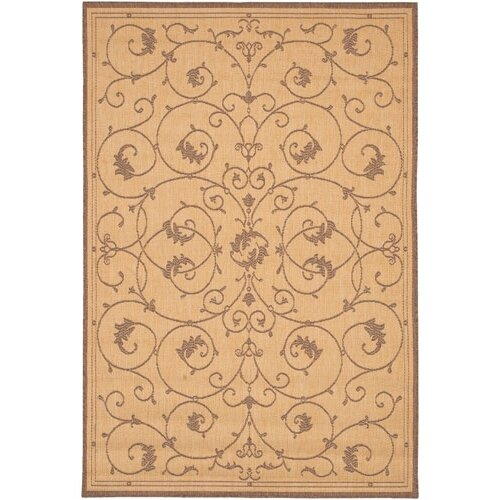 Couristan Recife Veranda Natural & Cocoa Indoor/Outdoor Rug