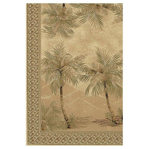 Couristan Everest Palm Tree Desert Sand Floral Rug