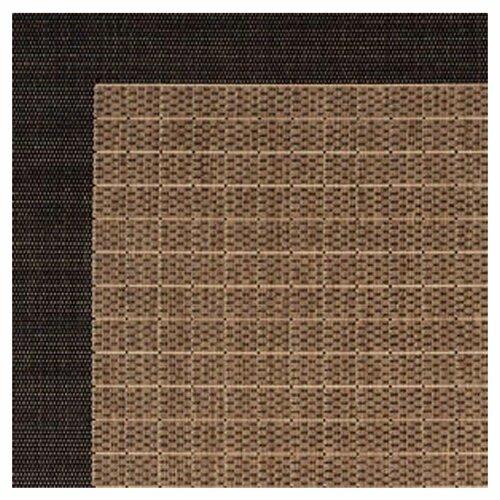 Couristan recife checkered field black cocoa indoor outdoor area rug reviews wayfair - Checkerboard area rug ...