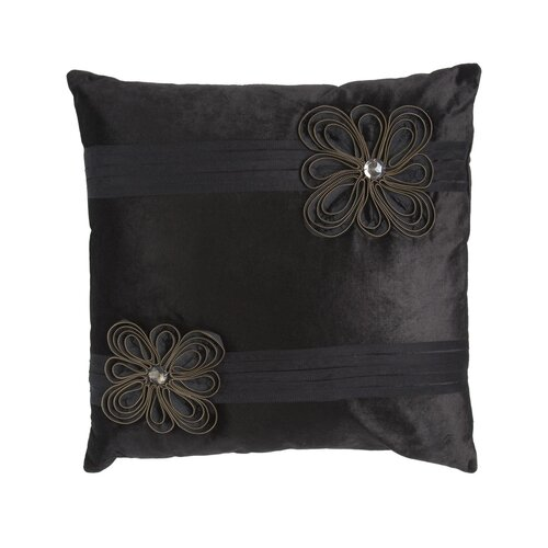 Zippers Flower Velvet Square Pillow