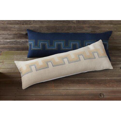 Coyuchi Radiant Roman Key Organic Cotton/Linen Decorative Pillow