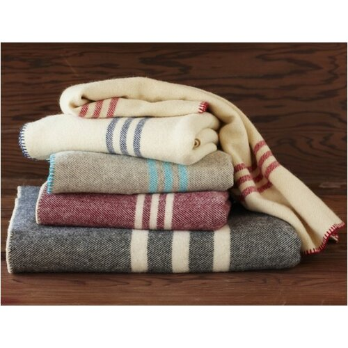 Coyuchi Striped Throw Wool Blanket