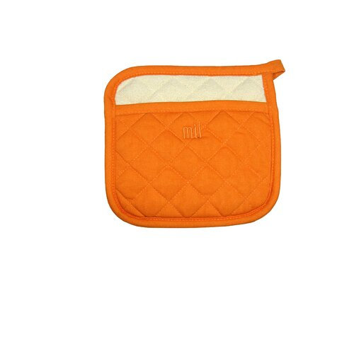 "MU Kitchen MUincotton 9"" Potholder in Orange"