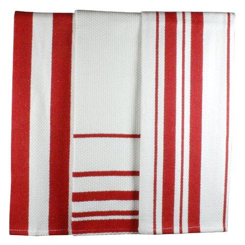 MUincotton Dish Towel in Punch Stripe (Set of 3)