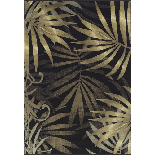 Dalyn Rug Co. Carlisle Black Leaves Rug