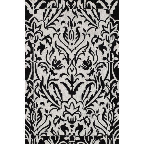 Studio Black Floral Rug