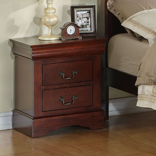 Lewiston Standard 2 Drawer Nightstand