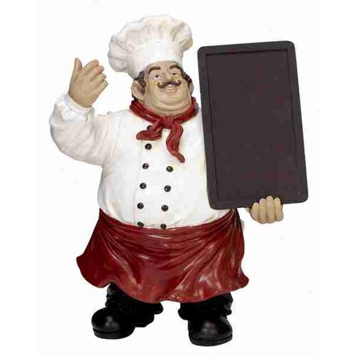 Cole & Grey Urban Trends Chef Statue Chalkboard
